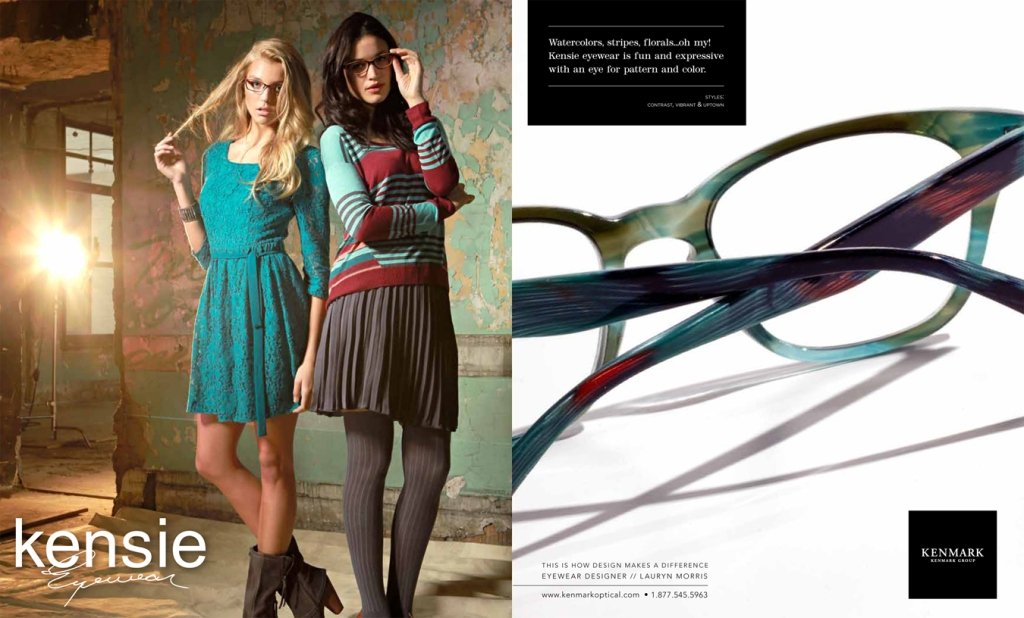 Watercolors, stripes, florals...oh my! Kensie eyewear is fun and expressive with an eye for pattern and color.